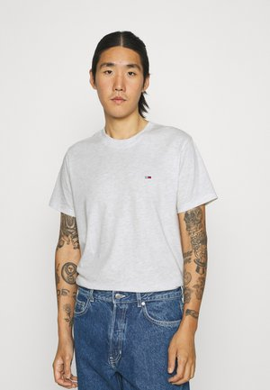 C NECK TEE - T-shirt - bas - white heather