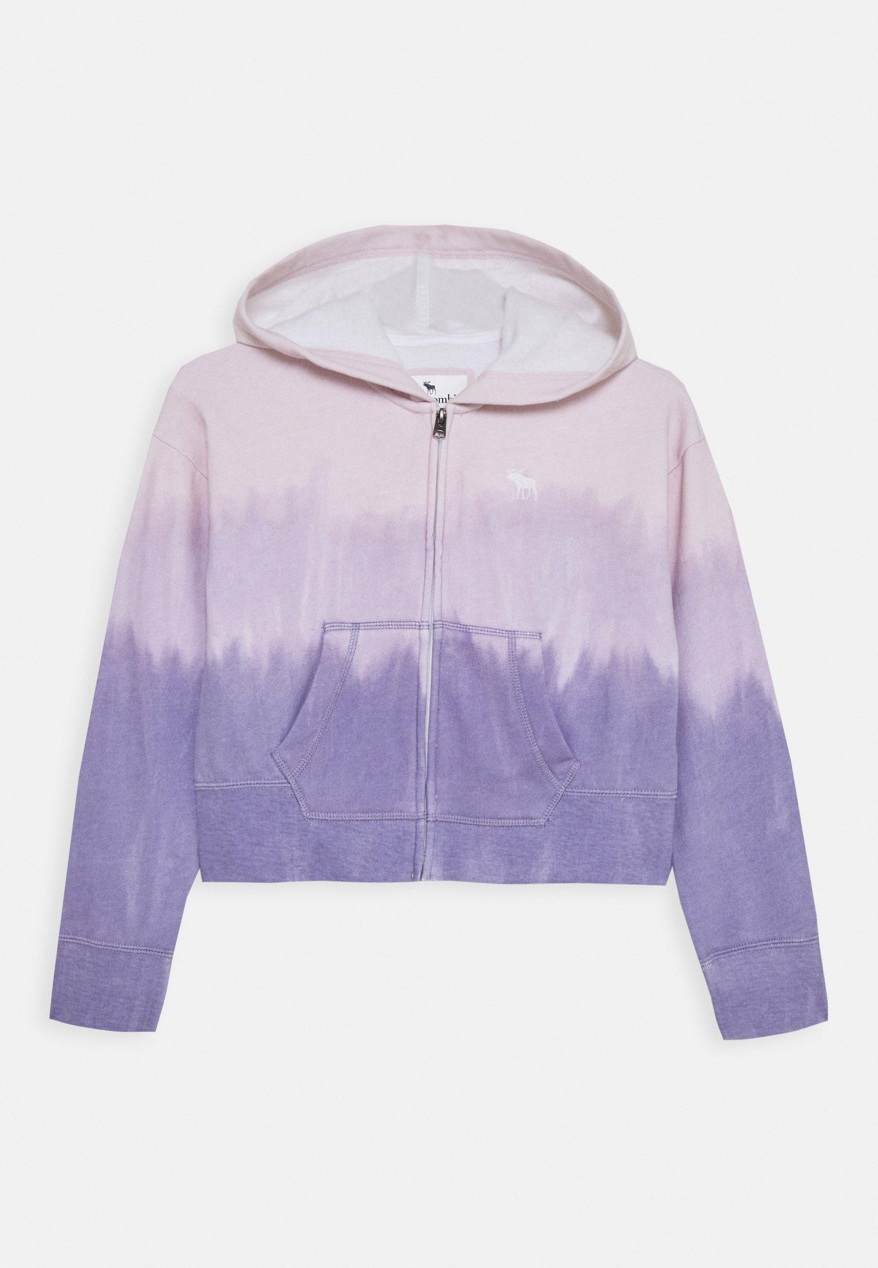 Große Förderung Abercrombie & Fitch CORE FULLZIP WASH - Sweatjacke - purple | Damenbekleidung 2020