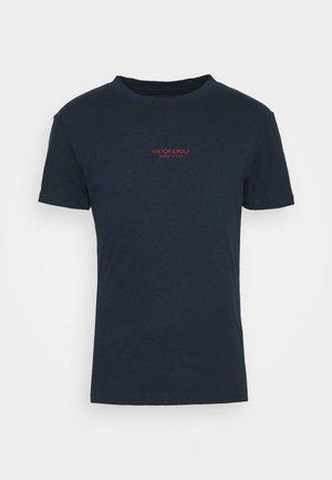 Basic T-shirt - navy melange