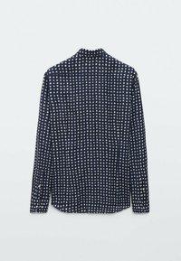 Massimo Dutti - SLIMFIT - Shirt - blue/black denim - 1