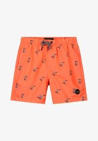 Shiwi - SNOOPY HAPPY SKATER - Swimming shorts - neon orange - 0