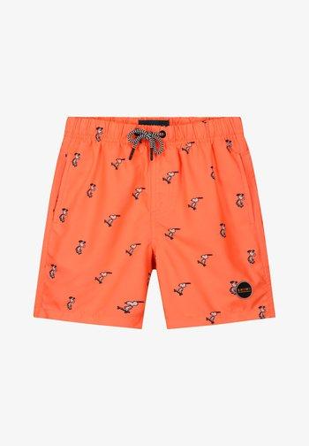 SNOOPY HAPPY SKATER - Swimming shorts - neon orange