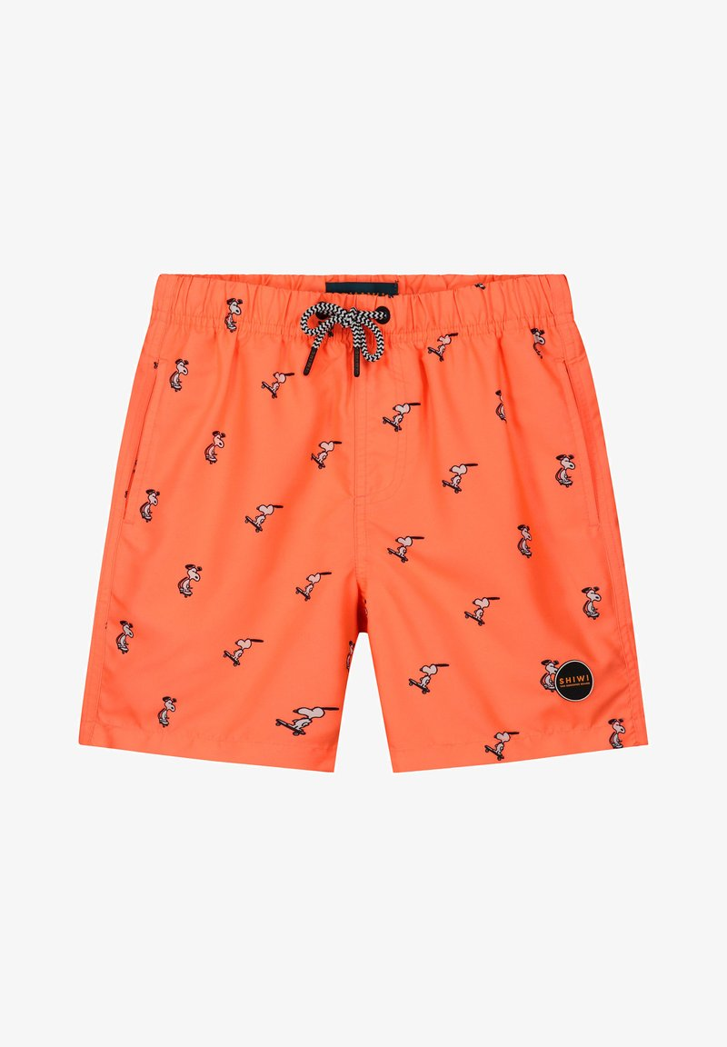 Shiwi - SNOOPY HAPPY SKATER - Swimming shorts - neon orange