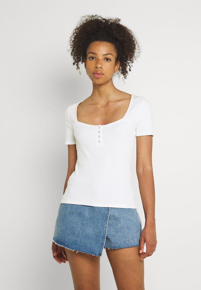 STEPHEN SWEETHERAT TEE - Print T-shirt - white