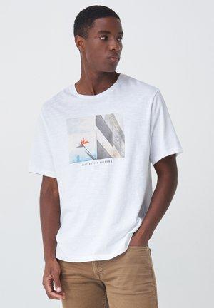 PALM BEACH REGULAR - Print T-shirt - weiß