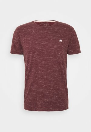 LOGO SOFTWASH ORGANIC TEE - Basic T-shirt - dark maroon