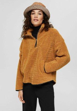 Fleece jumper - camel