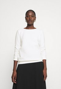 TOM TAILOR DENIM - STRUCTURED - Sweatshirt - off white - 0