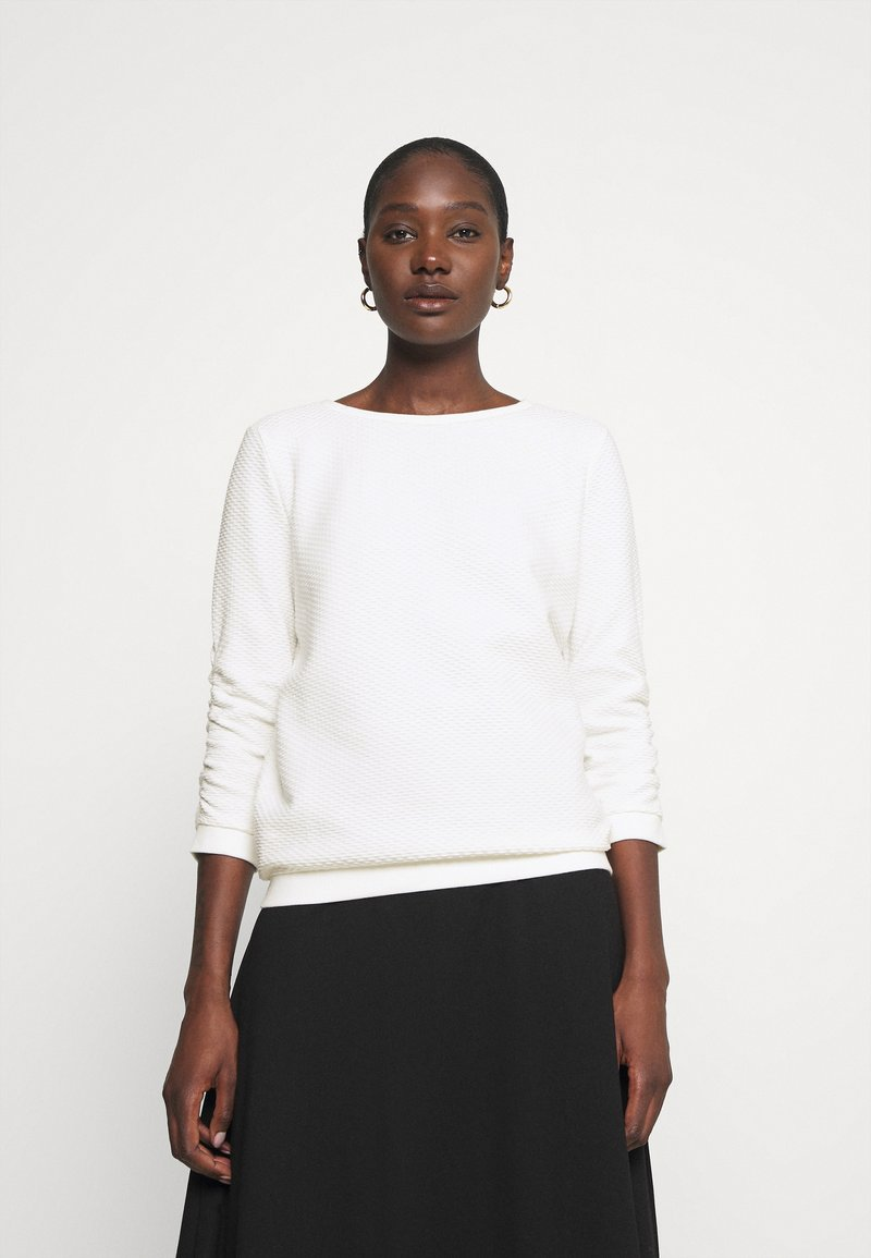 TOM TAILOR DENIM - STRUCTURED - Sweatshirt - off white