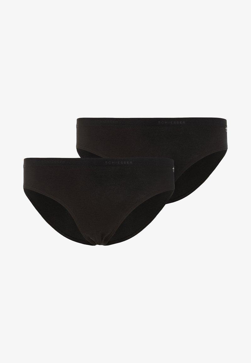 Schiesser - SLIPS BASIC 2 PACK - Kalhotky - black