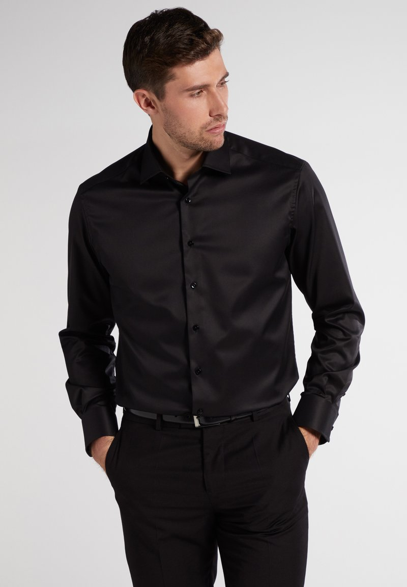Eterna - COMFORT FIT - Shirt - black