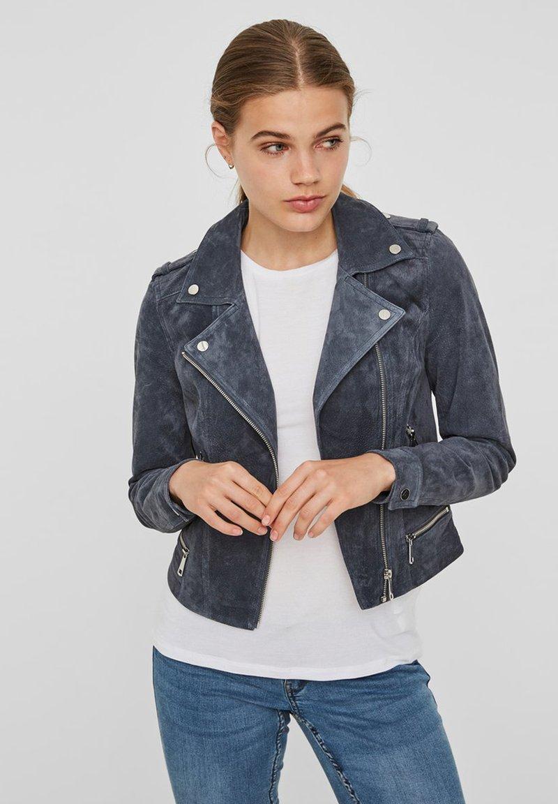 Vero Moda - Leather jacket - ombre blue