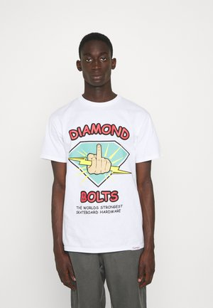BOLTS TEE - T-shirt imprimé - white