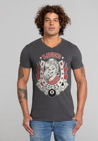 Liger - LIMITED TO 360 PIECES - CLAUDIA HEK - LUCKY - Print T-shirt - heather grey - 0