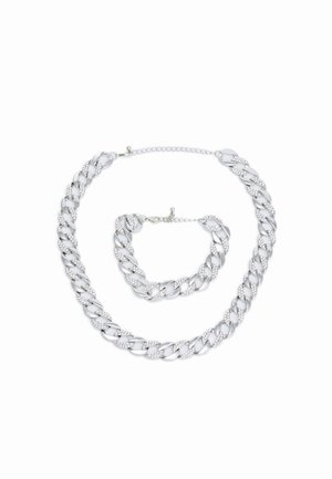 BASIC NECKLACE AND BRACELET SET - Collar - silver-coloured