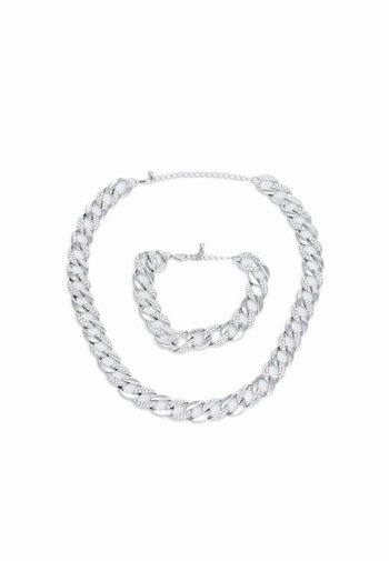 BASIC NECKLACE AND BRACELET SET - Necklace - silver-coloured