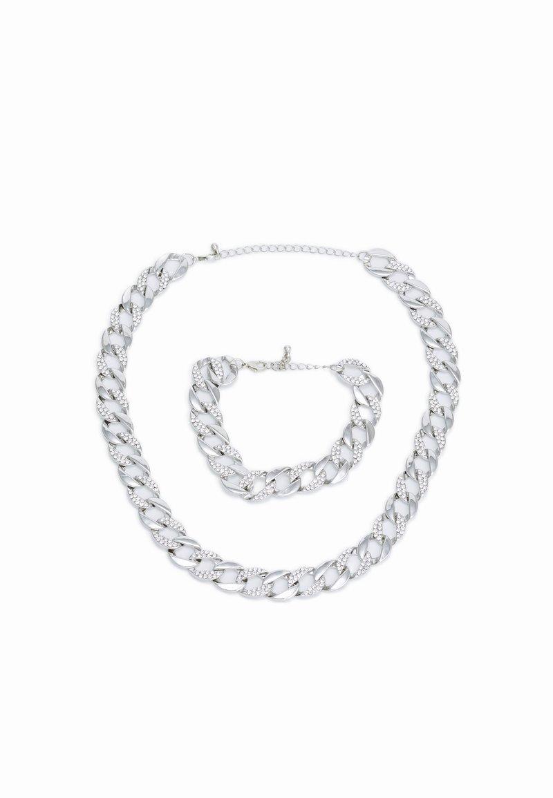 Urban Classics - BASIC NECKLACE AND BRACELET SET - Kaulakoru - silver-coloured