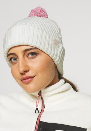 CIRCLE CAT REMOVABLE POM BEANIE - Bonnet - bright white