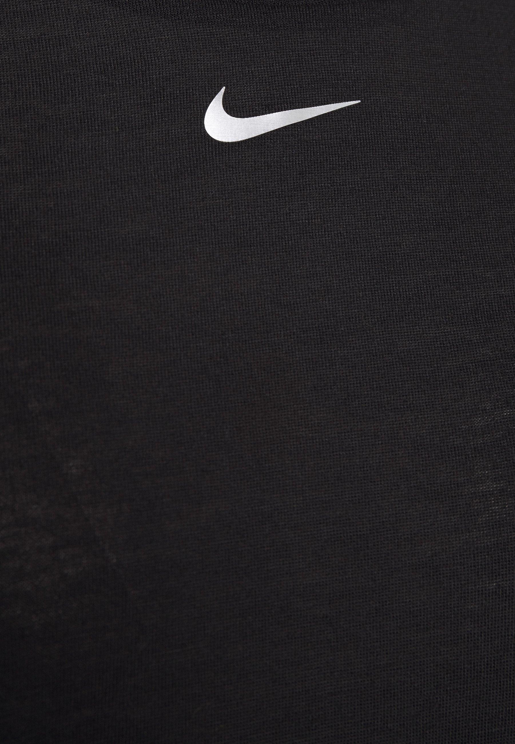 Nike Performance AEROADAPT - Print T-shirt - black/metallic silver jPKz4