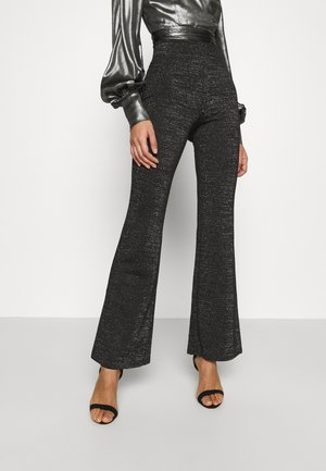 ONLPAIGE FLARED GLITTER PANT - Broek - black