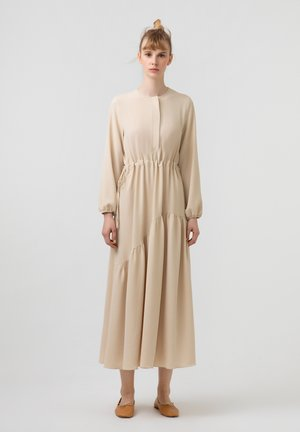 SHIRRED AEROBIN - Korte jurk - beige