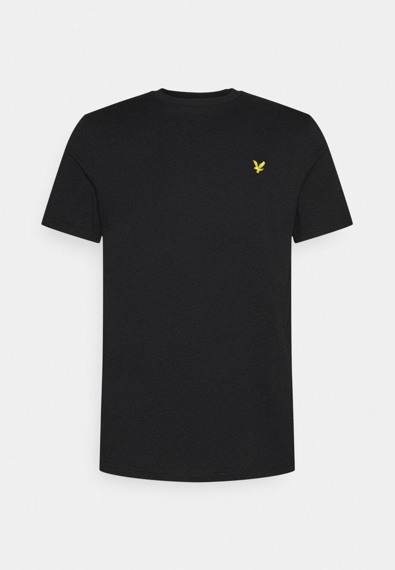 Lyle & Scott - PLAIN - T-shirt - bas - jet black