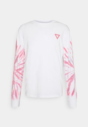 UNISEX - Long sleeved top - white/pink