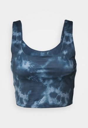 DOUBLE LAYER TIE DYE - Top - ombre blue