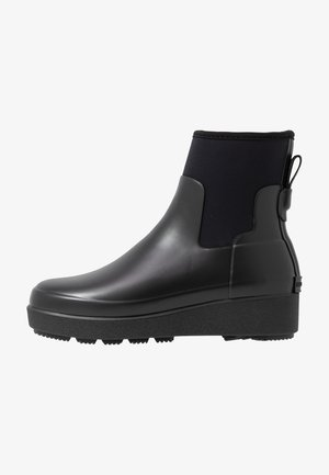 WOMENS REFINED CREEPER NEO CHELSEA - Botas de agua - black