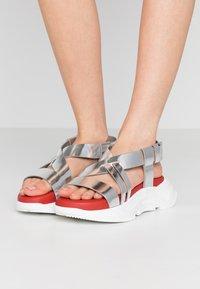 Sportmax - ARDEA - Platform sandals - argento - 0