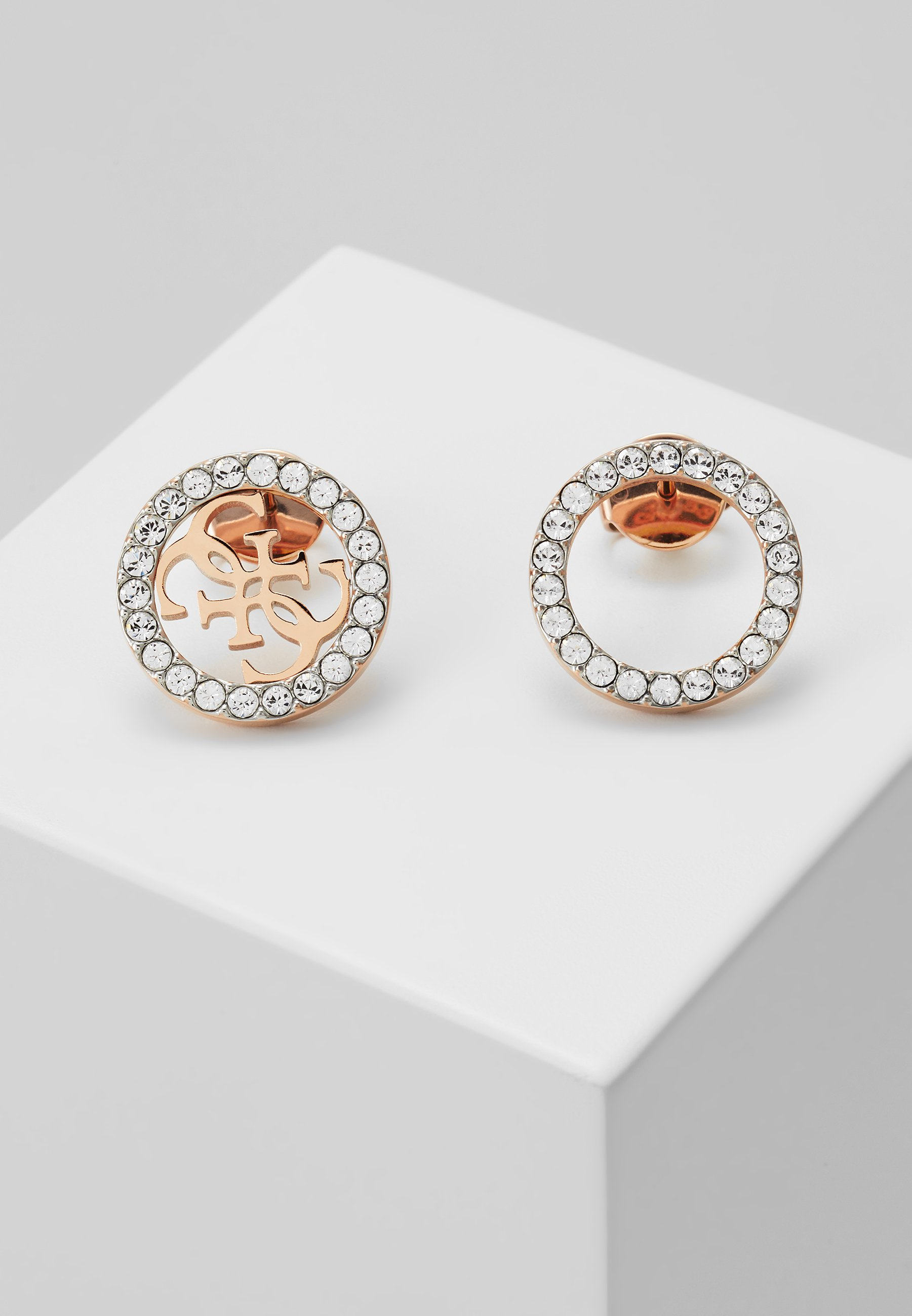 Guess Equilibre Earrings Rose Gold Coloured Gold Zalando Co Uk