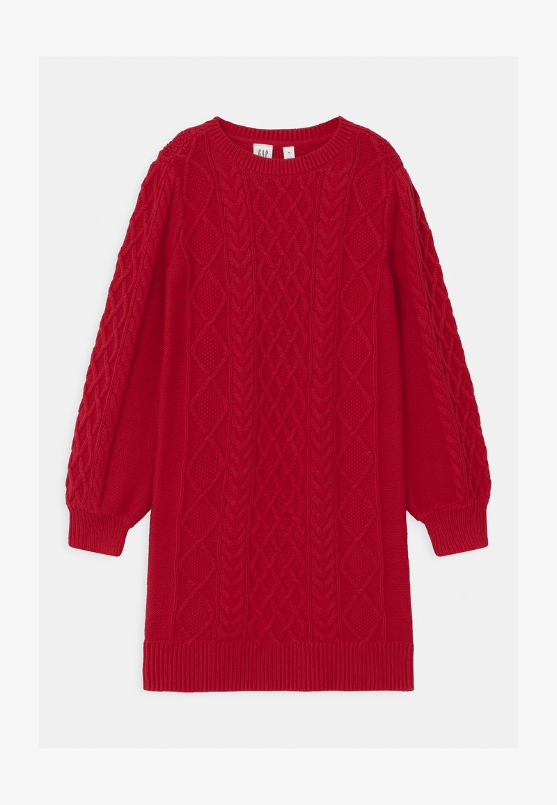 GAP - GIRL CABLE - Jumper dress - modern red