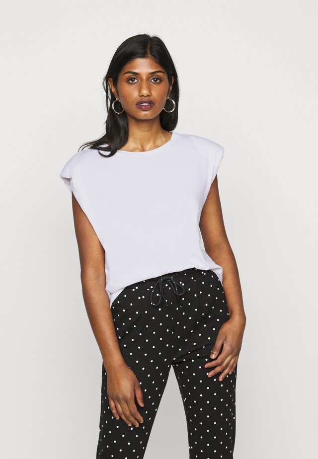ONLPERNILLE SHOULDER  - Basic T-shirt - white