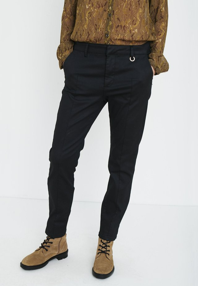 PZCLARA COATED - Trousers - black beauty