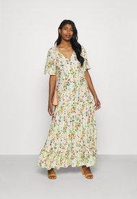 Object - OBJLORENA LONG DRESS - Maxi dress - sandshell/alba - 1
