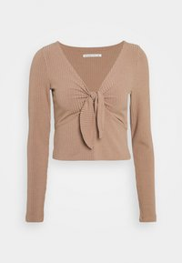 Abercrombie & Fitch - Long sleeved top - brown - 0
