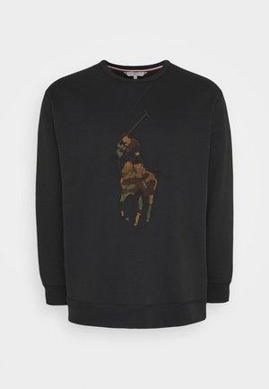DOUBLE TECH - Sweatshirt - black/oliv