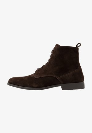 Lace-up ankle boots - brown
