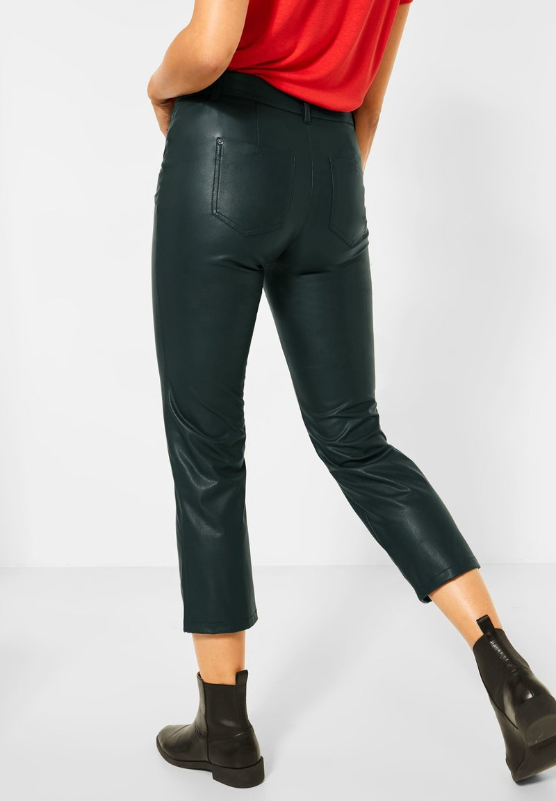 Street One - Leather trousers - grün