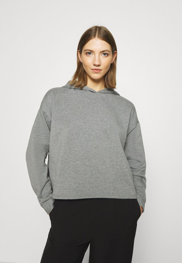 JDYLUCI LIFE HOOD - Bluza z kapturem - medium grey melange
