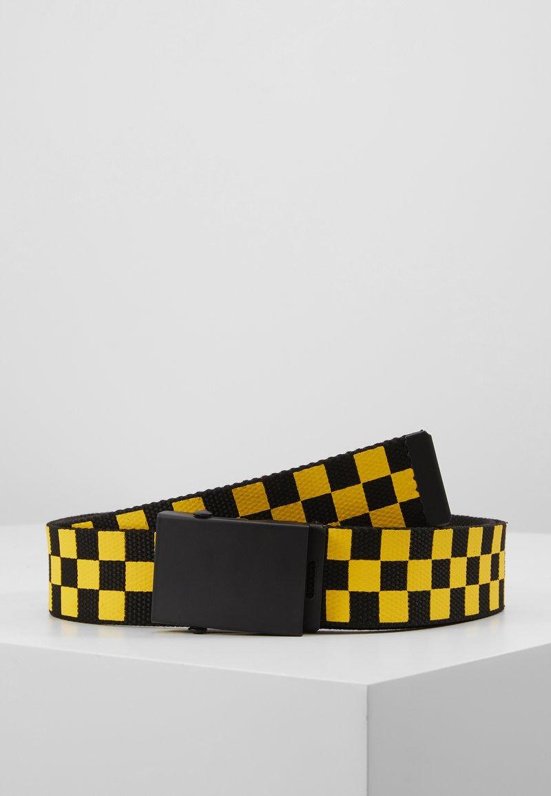 Urban Classics - ADJUSTABLE CHECKER BELT - Pásek - black/yellow