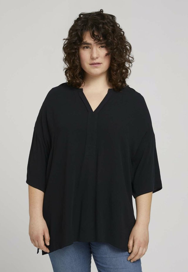 BLOUSE TUNIC - Camicetta - deep black