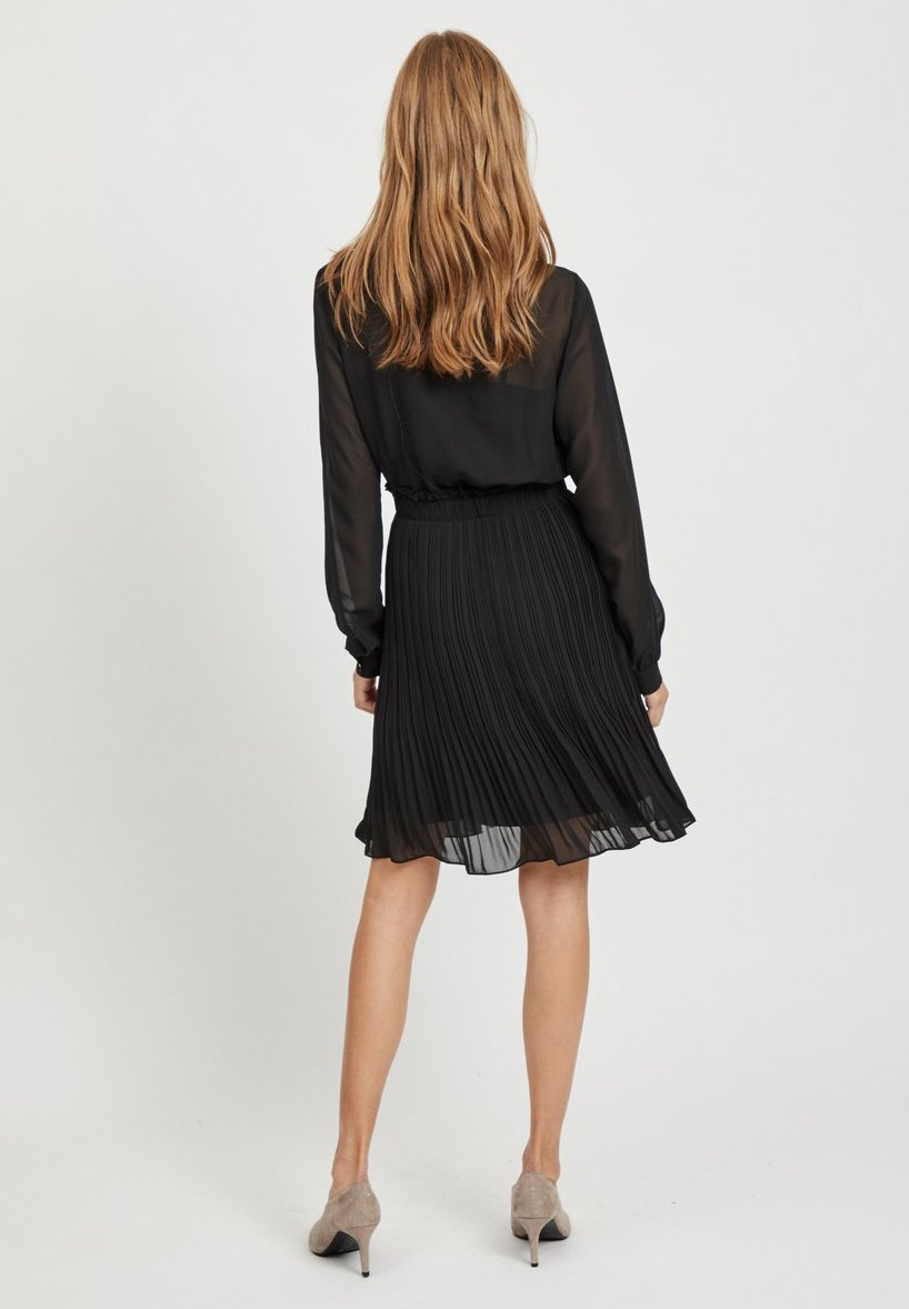 Vila MIT LANGEN ÄRMELN PLISSEE - Robe d'été - black - Robes femme bz7bT