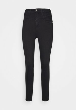 HIGH RISE SUPER SKINNY ANKLE - Jeans Skinny Fit - washed black yoke
