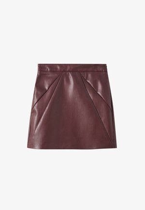 A-line skirt - mottled red