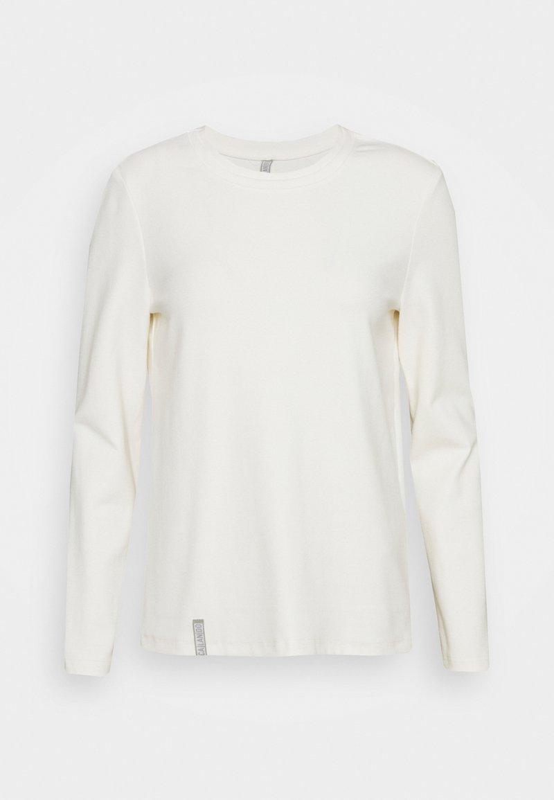 CALANDO - Long sleeved top - off-white