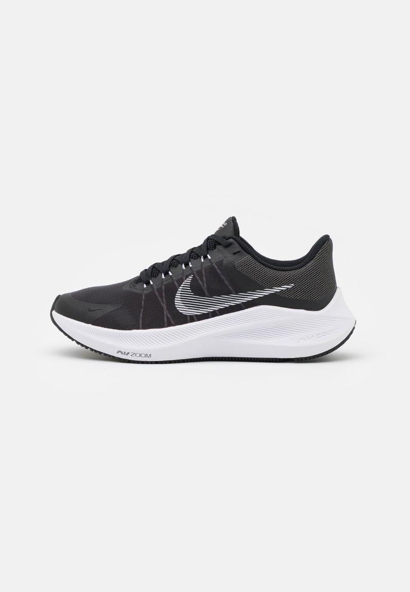 Nike Performance - WINFLO 8 - Neutrální běžecké boty - black/white/dark smoke grey/light smoke grey