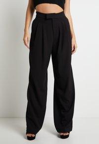 Pepe Jeans - DUA LIPA x PEPE JEANS - Trousers - black - 0