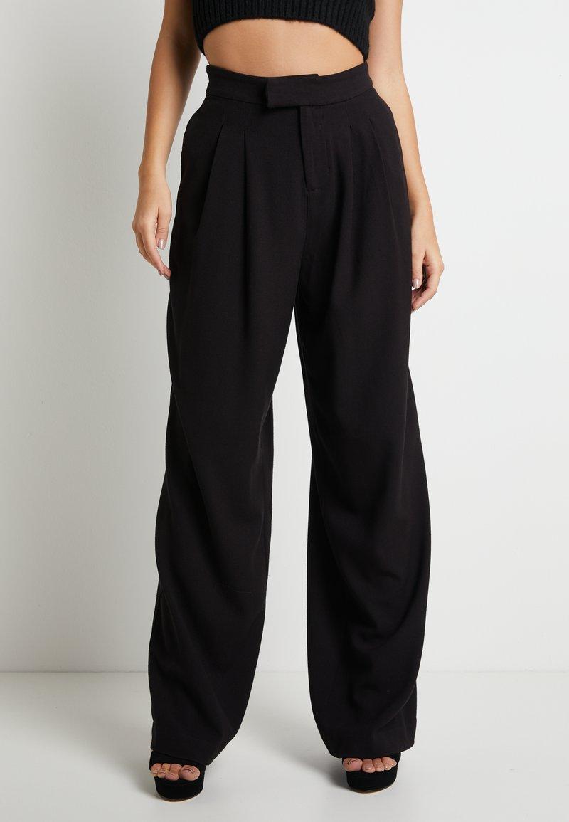 Pepe Jeans - DUA LIPA x PEPE JEANS - Trousers - black