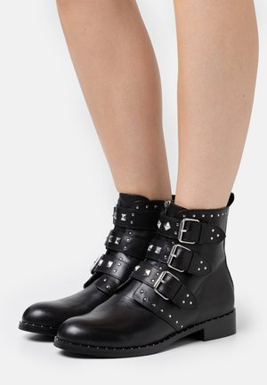 GALIANA - Cowboy/biker ankle boot - noir